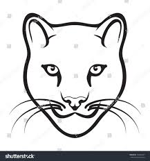 wild cat outline vector stock vector 133446407 shutterstock