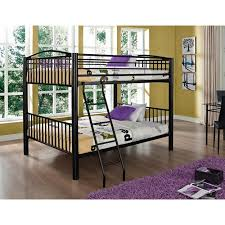 powell full over full metal bunk bed multiple colors walmart com