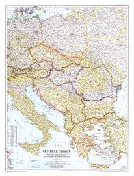 Central Europe Map by 1951 Central Europe Map Historical Maps
