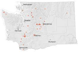 Washington State Map by Hazardous Minerals Wa Dnr
