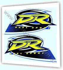 suzuki dr200 dr 200 dual sport kit decals tank stickers