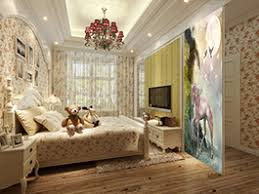 chambre cheval fille papier peint fantaisie personnalisable cheval unicorne dans la nuit