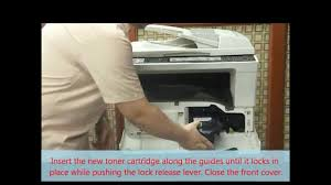 shar copier fixing paper jam and replacing toner cartridge youtube
