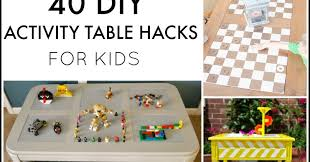 diy folding train table 40 diy activity table hacks for kids and next comes l