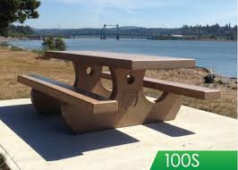 the original one piece precast concrete picnic table