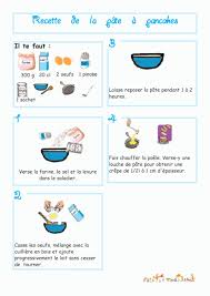 recette de cuisine ce1 imprimer la recette de la pâte à pancake illustrée chanson enfant