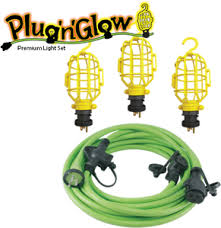 the n glow contractor string light extension cord conntek
