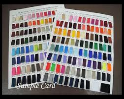 colour chart samples etsy