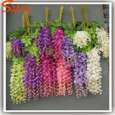 wholesale artificial flowers china factory import silk flowers of artificial wisteria flower