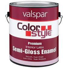 valspar brand 1 gallon white colorstyle interior latex semi gloss