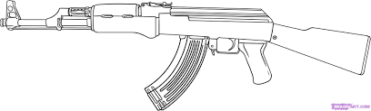 military pistol coloring pages book kids boys gun 23573