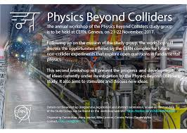 physics beyond colliders annual workshop 21 22 november 2017