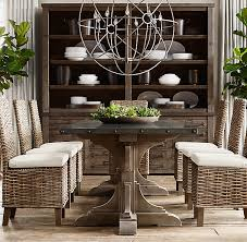 20th c reclaimed pine u0026 zinc trestle rectangular dining table new