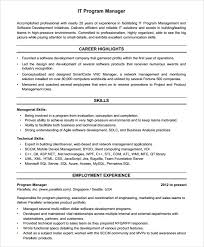 It Risk Management Resume It Manager Resume It Manager Resume Example Example Of Manager