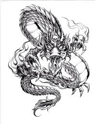 asian tribal dragon tattoo