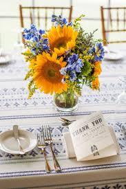 Sunflower Arrangements Ideas Best 25 Blue Centerpieces Ideas On Pinterest Blue Flower