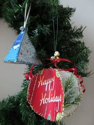 diy craft ornaments from recycled greeting cards holidappy