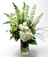 White Roses In A Vase Tranquil White Flowers Vase Arrangement By Anaheim Florist Avante