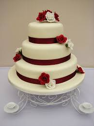 3 tier burgundy and ivory roses wedding cake www cakes4you u2026 flickr