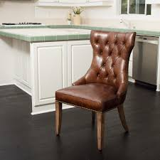Leather Parson Dining Chairs Rustic Leather Chairs Rustic Dining Chairs
