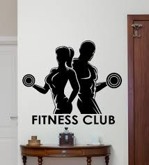 compare prices on club sport online shopping buy low price club fitness club wall decal sport man woman gym vinyl sticker art decor mural china