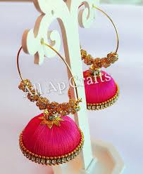 punjabi jhumka earrings all ap crafts silk thread bangles online in allapcrafts silk