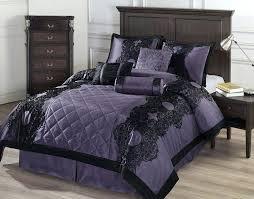 Tan Comforter Black And Purple Bed Set Smartwedding Co