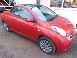 red nissan 2008 nissan micra 1 6 16v acenta 2008 3 door hatch with fold down roof
