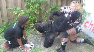 miniak vs robb banks intergender match chw backyard wrestling