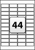 Label Sheet Template 44 Address Labels Per A4 Sheet 47 Mm X 20 Mm Flexi Labels