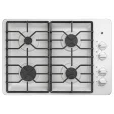 white gas cooktops cooktops the home depot
