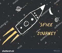 space ship rocket illustration vector graphic stock vector