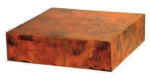 copper cube coffee table storage modern large and end rustic top