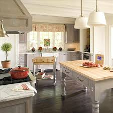 low ceiling white pendant lamps rustic country kitchen design