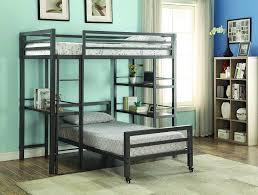 mason twin over twin metal loft bed w bookshelves u0026 writing desk