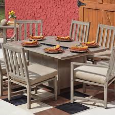 Patio Dining Sets With Fire Pits by Patio With Fire Pit Dining Table Made Of Wooden In Gray Lacquer