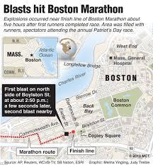 Boston Marathon Route On Google Maps by Boston Bombings 2013 Devices That Killed Three Including Martin