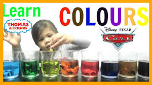 color mixing learn colors with food coloring and toys for