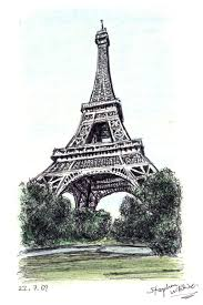 the eiffel tower paris original drawings prints and limited