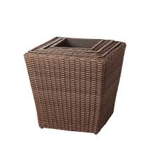 3 piece wicker planter set