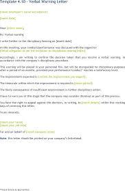 doc 580600 verbal warning template u2013 sample verbal warning