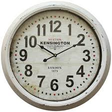 decorating postema oversized wall clock with white sofa and