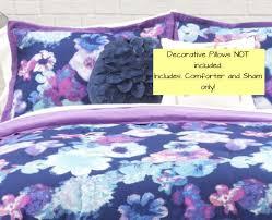 Purple Floral Comforter Set Blue Purple Floral Comforter Set 3 Piece Full Queen By Seventeen