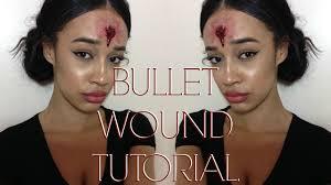 shot in the head bullet wound halloween sfx makeup tutorial