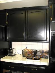 Painted Black Kitchen Cabinets Before And After Auction Vintage Met Monday Black Kitchen Cabinets