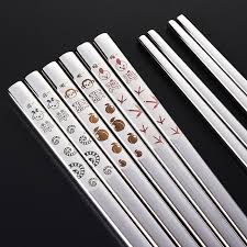 engraved chopsticks 304 stainless steel chopsticks zodiac patterns