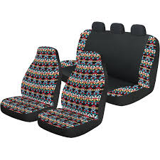 auto drive bohemian front and rear automotive car seat cover kit