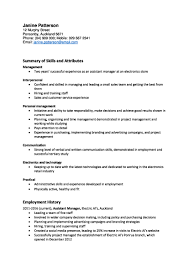 example resume for retail cv and cover letter templates example of a skills focused cv