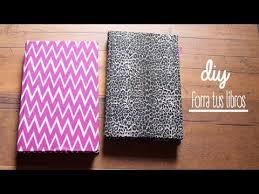 como forrar un cuaderno con tela youtube diy cómo decorar tus libros con tela youtube