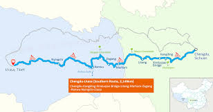 Qatar Route Map by Cycling From Chengdu To Lhasa Via Sichuan Tibet Road Tips And Details